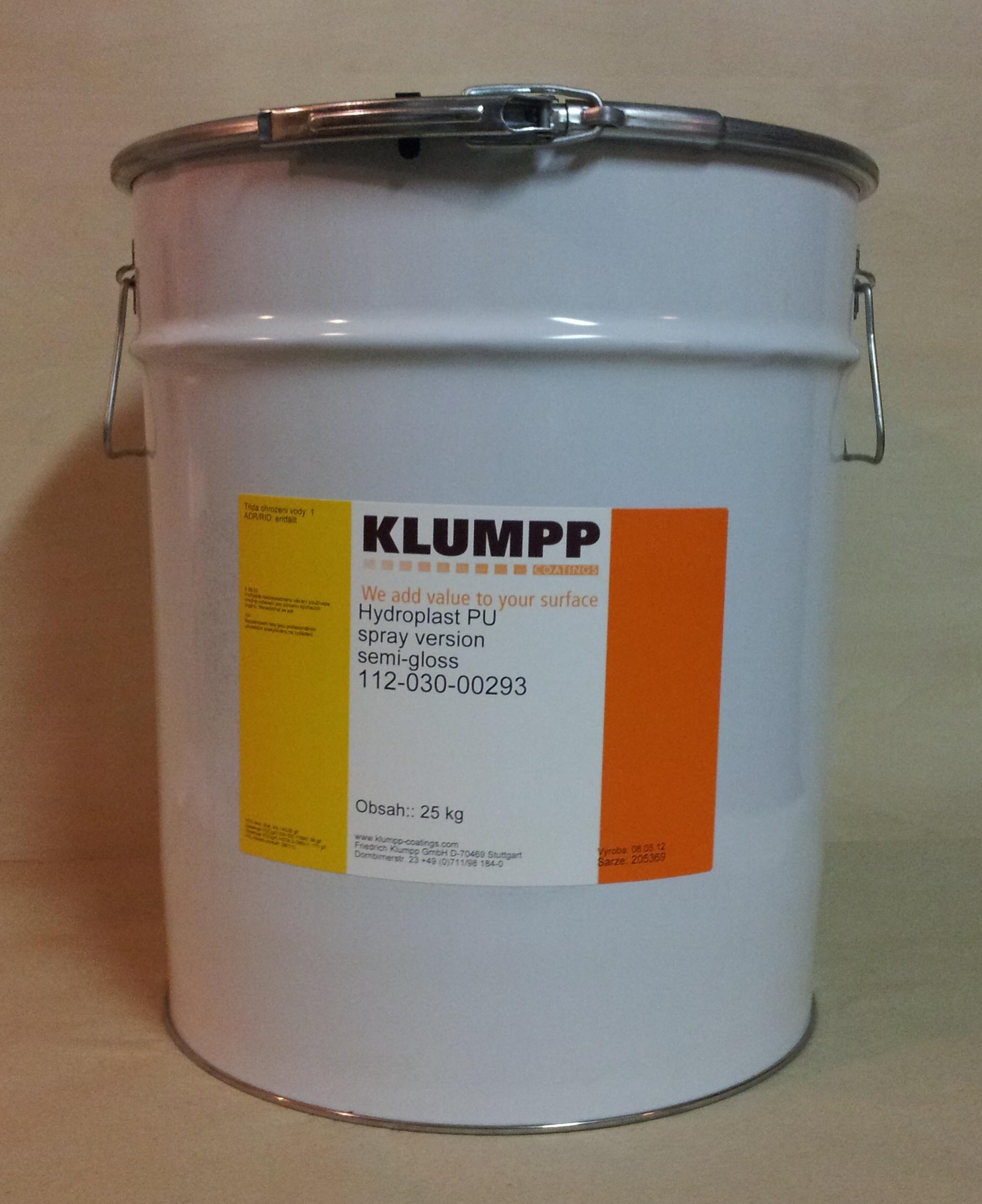 Hydroplast PU VŘ PUR lak 20° stříkací 25kg